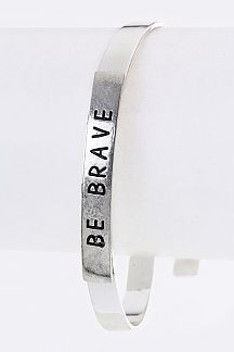BE BRAVE Engrave Metal Bangle