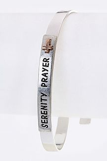 SERENITY PRAYER Engraved Metal Bangle