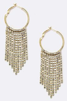 Layer Crystal Hoop Earrings