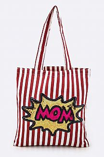Sequins MOM Canvas Tote