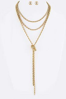 Knotted Chain Layer Necklaces Set