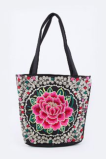 Tibetan Embroidery Flower Tote