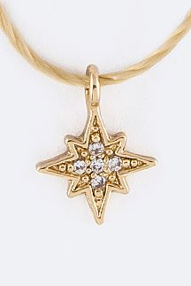 Petite CZ Star Drawstring Necklace