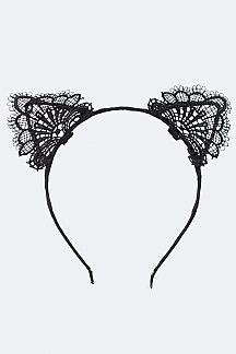 Lace Kitty Ears Headband