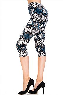 Diamond Maze Capri Leggings
