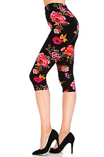 Mystic Rose Capri Leggings