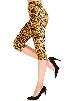 Cheetah Print Capri Leggings
