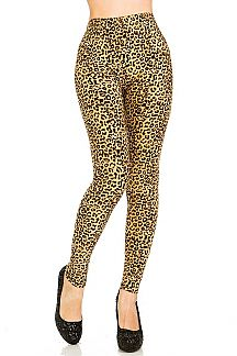 Leopard Print Brushed Leggings
