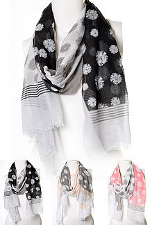 Mix Print Ligth Weight Scarf