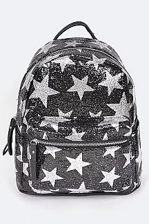 Sequins Stars Fashion Backpack