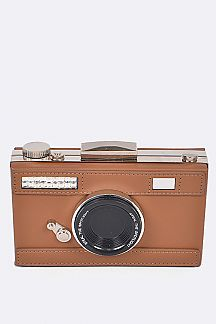 Camera Design Box Clutch Bag