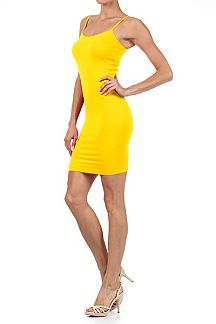 Seamless Cami Dress With Adjustable Straps