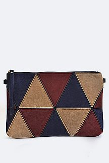 Geo Color Block Convertible Clutch