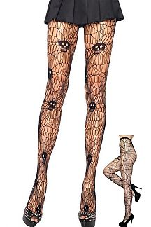 Skull Fishnet Stocking
