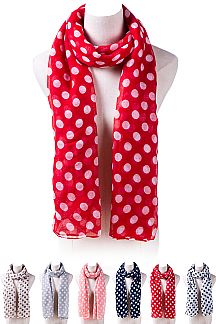 Polka Dot Fashion Lightweight Scarf
