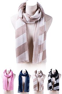 Mix Stripes Fashion Scarf