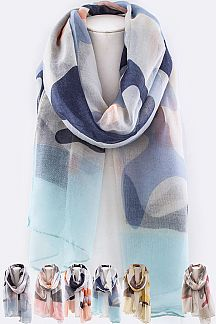 Soft Cameo Mix Printed Scarf