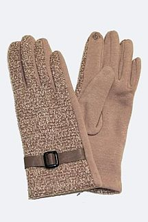 Smart Touch Buckled Cotton Gloves