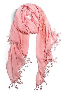 Fringe Lace Flower Fashion Scarf