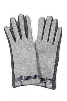 Houndtooth Strap Fashion Gloves