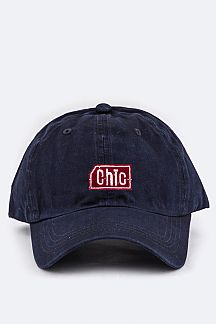 Chic Embroidery Patch Cotton Cap