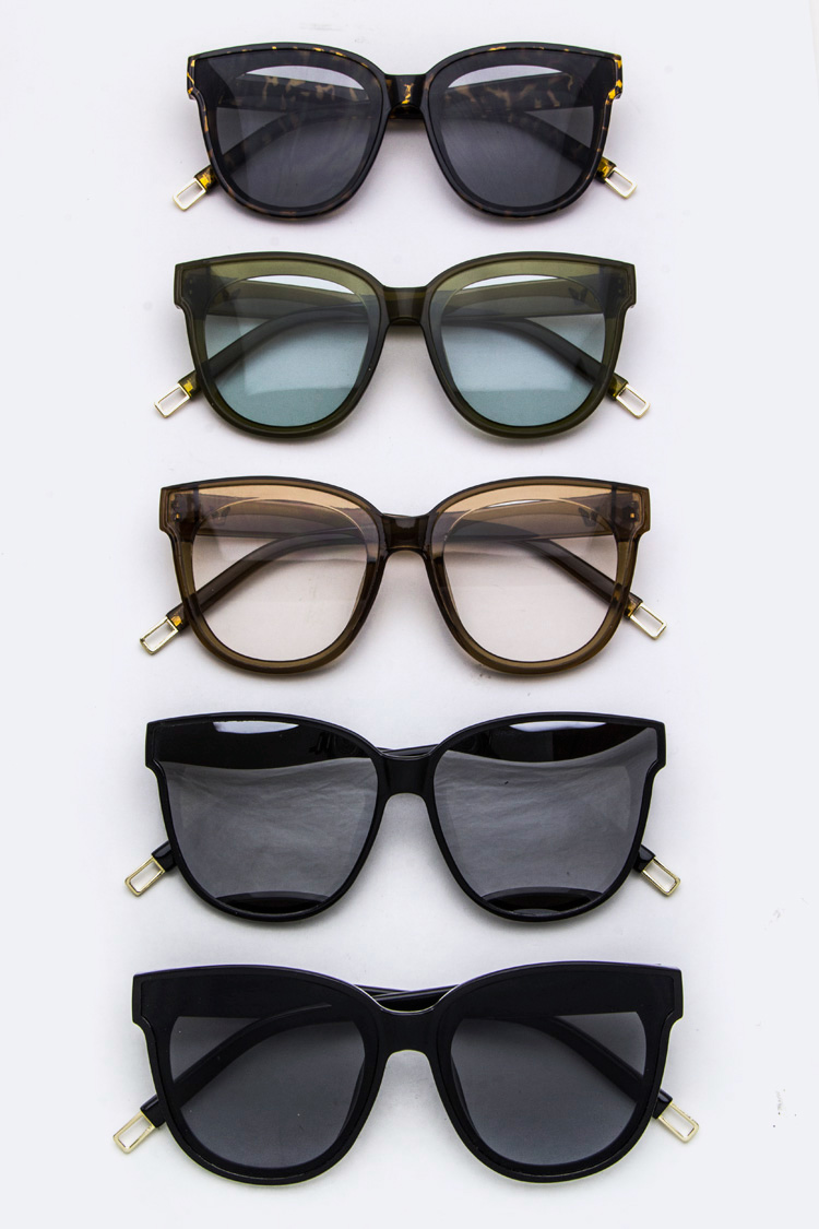 Iconic Frame Color Tinted Lense Sunglasses