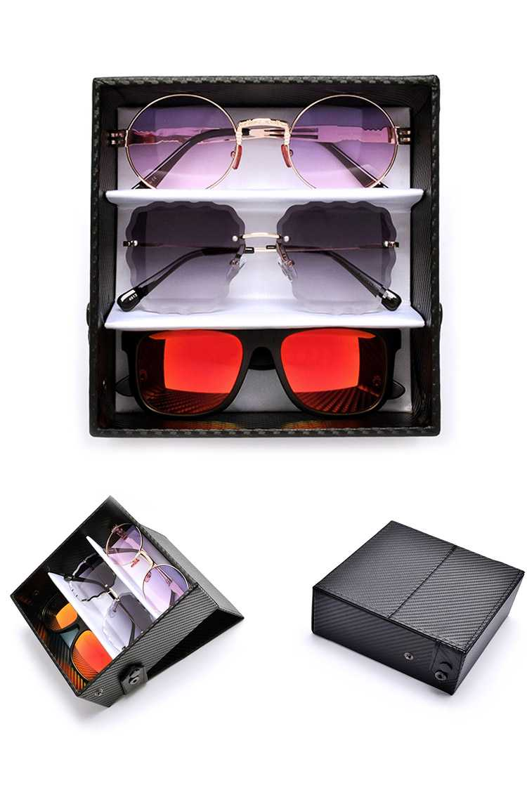 3 PC Glasses Display Case