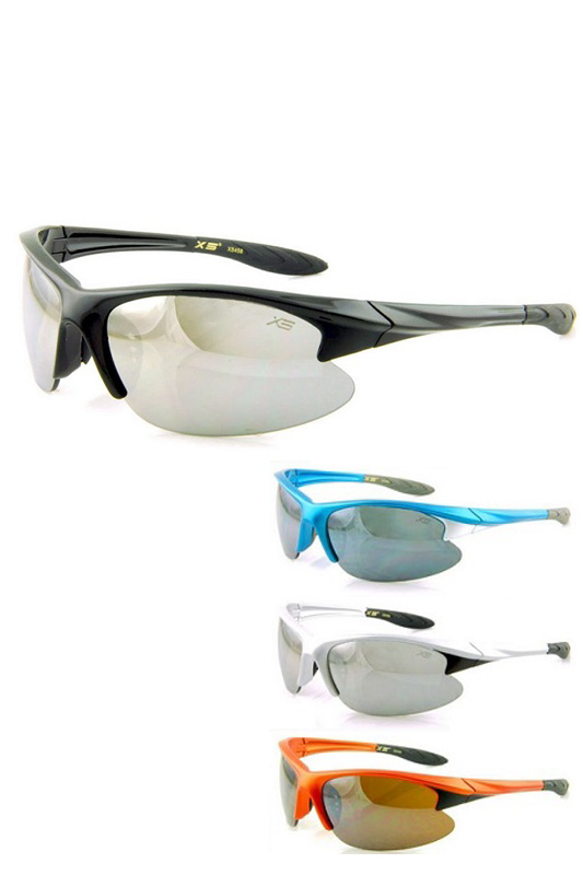 Sporty Reflective Lens Sunglasses