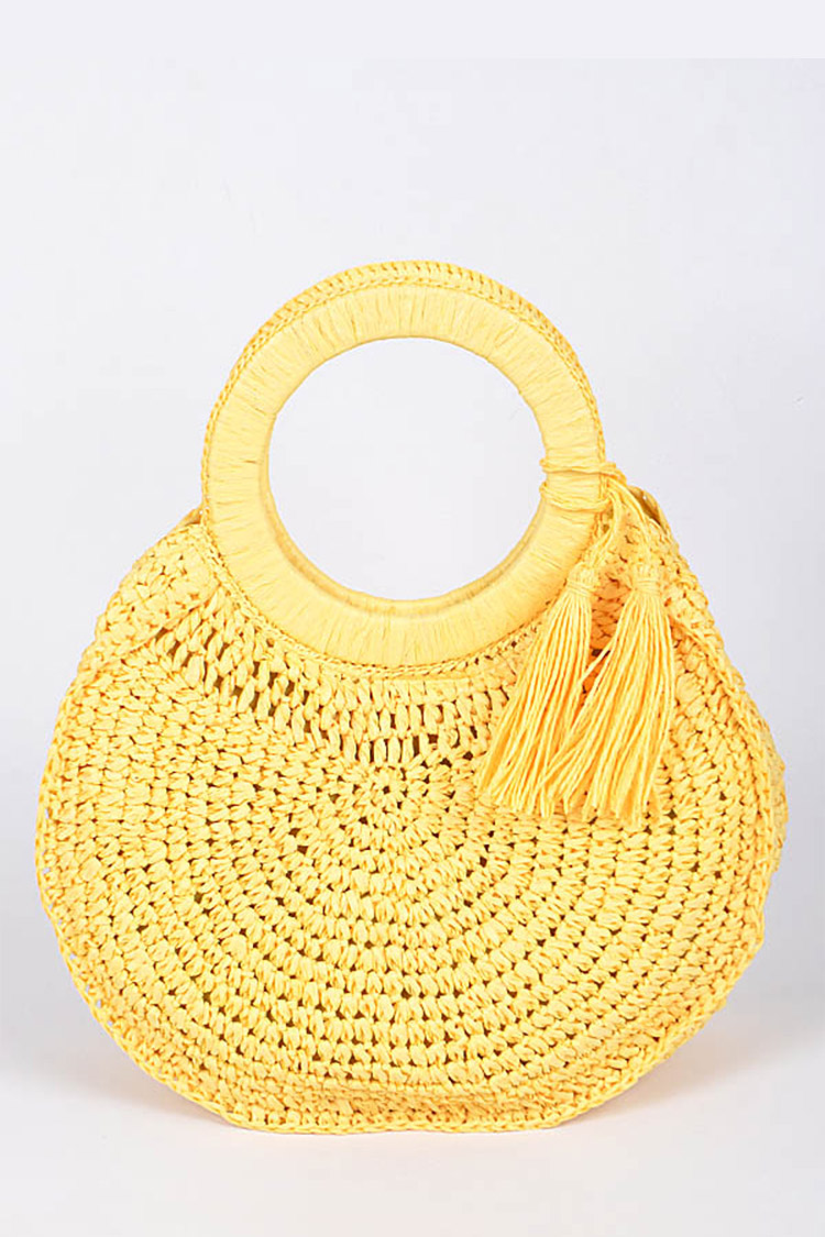 Woven Straw Hand Bag