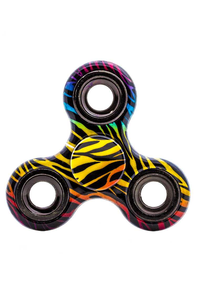 Color Zebra Printed Hand Spinner