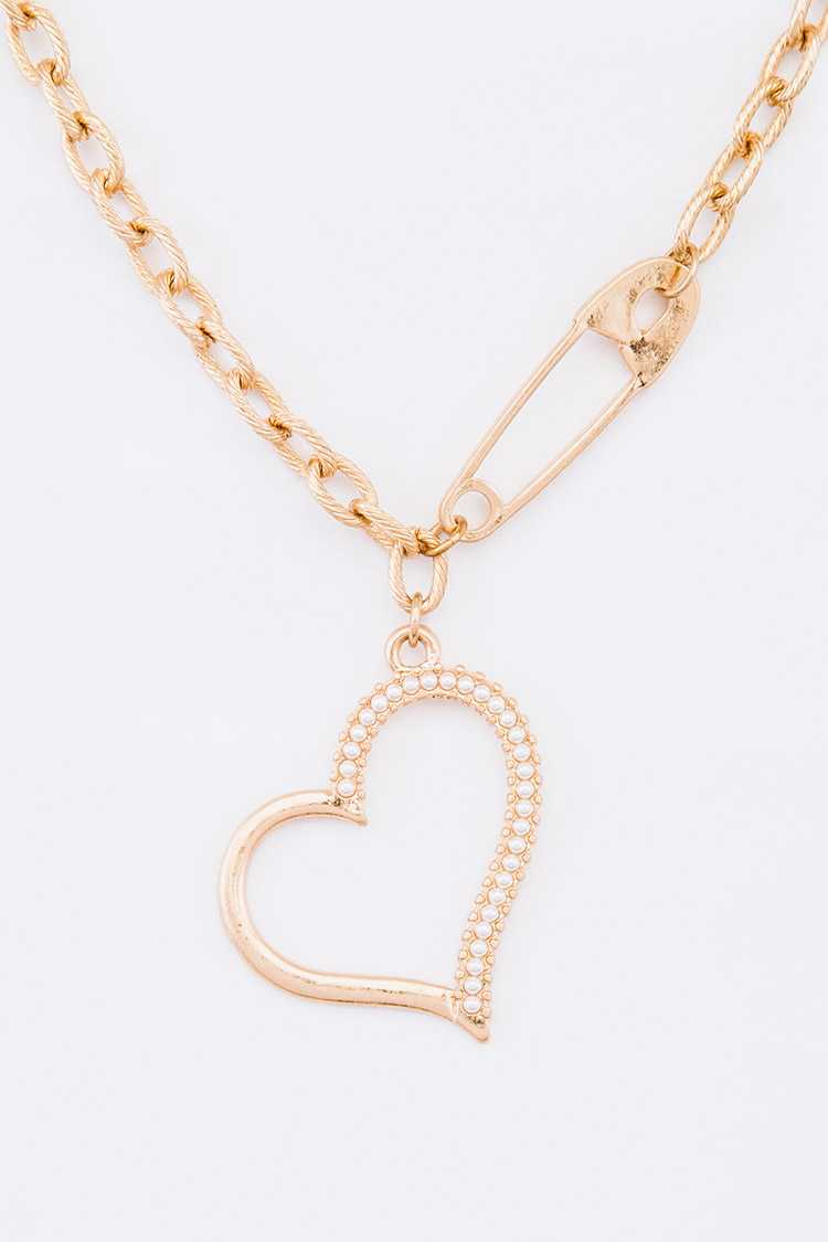 Heart Pendant Iconic Necklace