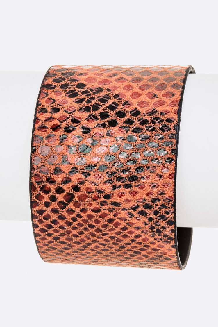 Python Snake Print Adjustable Cuff